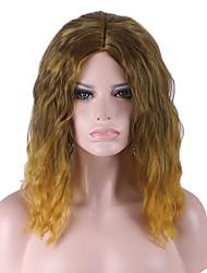 best-seller de l'Europe et les États-Unis cos perruque or brun dégradé du volume lâche perruques 14 pouces