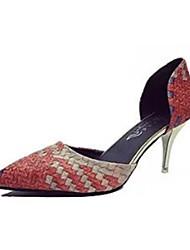 Damen-High Heels-Lässig-PU-Stöckelabsatz-Absätze-Rosa / Orange