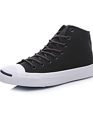 Converse Jack Purcell Men's Shoes High Canvas Outdoor / Athletic / Casual Sneaker Flat Heel Black / White
