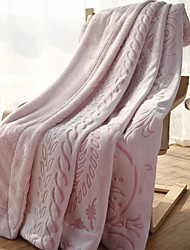 "Flannel Blankets Bed Blanket  W70""×L79""""Super Soft Warm and Easy Care Floral Pattern"