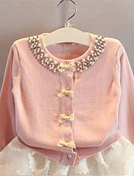 Girl's Casual/Daily Solid Sweater & Cardigan,Cotton Spring / Fall Blue / Pink