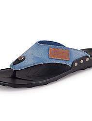 Men's Slippers & Flip-Flops Summer Latex Casual Flat Heel Others Black Blue Royal Blue Walking
