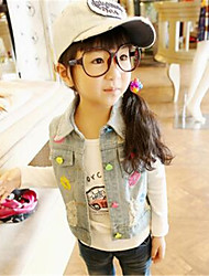 Girl's Casual/Daily Print Vest,Polyester Summer Blue