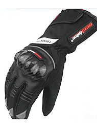 The New Carbon Fiber Electric Motorcycle Gloves Gloves Waterproof Cold Fall Cycling Gloves