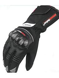 la nouvelle fibre de carbone électriques gants de moto gants de gants de cyclisme de l'automne froid imperméable