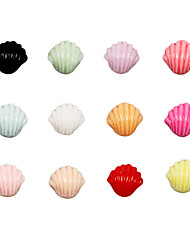 100 Piece Same Color Shell Shape Nail Art Decoration