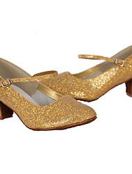 Customizable Women's Dance Shoes Leatherette / Paillette Leatherette / Paillette Latin