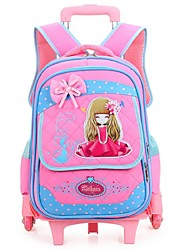 Unisex Nylon Casual Backpack Pink / Blue / Fuchsia