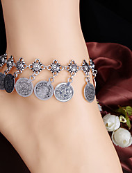Women Retro Style Metal Coin Tassel Anklets Alloy Anklet Daily / Casual 1pc