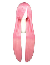 Cosplay Wigs Kuroko no Basket Amu Hinamori Pink Long Anime Cosplay Wigs 100 CM Heat Resistant Fiber Male / Female