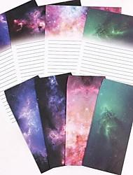 Colorful Star Envelopes Suit 6 Letterheads and 3 Envelopes(Random Colors)