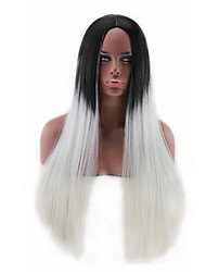 Hot Models in Europe and America Carved High-quality Synthetic Long Straight Hair Wigs