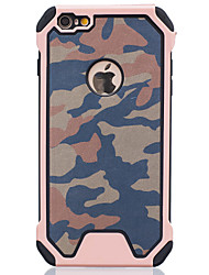 Per Custodia iPhone 6 / Custodia iPhone 6 Plus Resistente agli urti Custodia Custodia posteriore Custodia Mimetico Resistente PC Apple