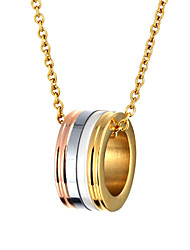Women Fashion Stainless Steel Necklace Vintage Gold Plated Ceramic Pendant Necklace Bohemia Style