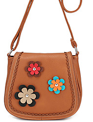 Women-Casual / Office & Career / Professioanl Use / Shopping-PU-Shoulder Bag-Blue / Brown / Red / Black