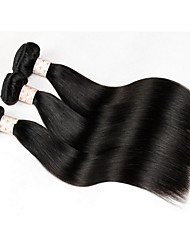 8A Brazilian Straight Hair With Closure 3 Bundles With Closures Cheap Human Hair With Closure Piece Straight Hair