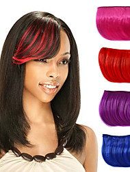 Capless Clip Straight Synthetic Hair Pieces Side Bang Multi-Colors