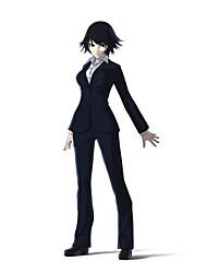 Inspiriert von Ajin Shimomura Izumi Anime Cosplay Kostüme Cosplay Kostüme einfarbig Schwarz Lange Ärmel Mantel / Shirt / Hosen