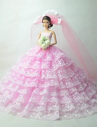 Wedding Dresses For Barbie Doll Pink Dresses