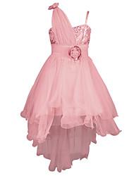 2016 Lace Girls Party Dress Kids Flower Children Girls Elegant Ceremonies Wedding Birthday Trailing Dresses Prom Gowns