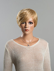 Gorgeous Blonde Straight Short Human Hair Wigs