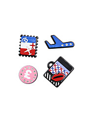 Fashion Women Cute Travelling Set Pin Brooch Set