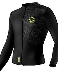 SLINX Unisex 5mm Wetsuits Wetsuit Jacket Compression Tactel Diving Suit Diving Suits-Diving Black