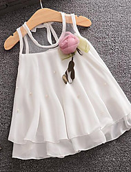 Wear a skirt on behalf of Korean children a summer sleeveless Chiffon baby girls dress baby princess dress.