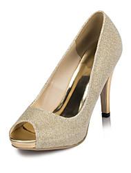 женская обувь сатин стилет каблук каблуки каблуки свадьба / партии&вечер / платье цвета слоновой кости / белый
