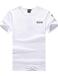 Others Men's Leisure Sports Tops / T-shirt White / Black / Dark Green / Light Khaki