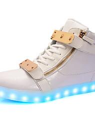Femme-Extérieure / Décontracté-Noir / BlancConfort-Sneakers-Synthétique