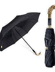 China Umbrella Factory Personalized Design High Quality  Gold Plated Fold  Umbrella