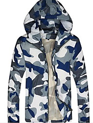 Men's Long Sleeve Jacket,Polyester Casual Camouflage