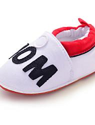 Para NiñaPrimeros Pasos / Zapatos de Cuna-Bailarinas-Exterior / Casual-Tejido-Blanco
