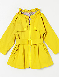 Girl's Casual/Daily Solid Blouse,Cotton Fall Yellow