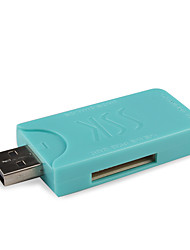 SSK USB 2.0 Multifunctional SD / MS / TF / M2 Card Reader / Compact Flash Card Reader SCRM053