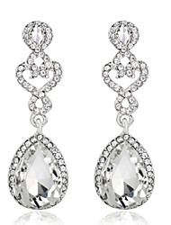 Royal Blue Exqusite Quality Silver AAA Zircon Crystal Drop Earrings for Lady Wedding Party