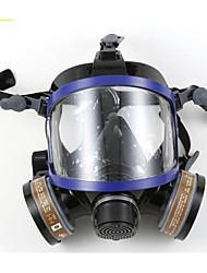 nh-9006 silicone anti-virus entièrement à l'aise avec double filtre respiratoire à masque complet à cartouche chimique