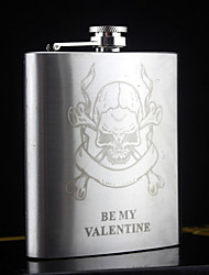 Personalized Stainless Steel Hip Flasks 6-oz SilverFlask Gift