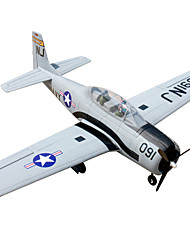 Dynam T28 Trojan 1:8 Brushless Electric 50KM/H RC Airplane 5ch 2.4G EPO Gray RTF