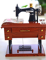 Sewing Machine Alice Music Plastic Furnishing Articles Music Box