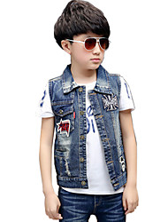 Boy's Cotton Spring/Fall Modern Stylish Single-breasted Cowboy Waistcoat