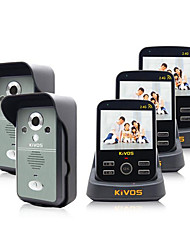 KiVOS Doorbell Wireless Home Doorbell Three Drag Two Camera Video Unlock KDB300