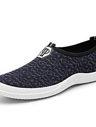 Herren-Flache Schuhe-Sportlich-Tüll-Flacher AbsatzSchwarz Blau Grau