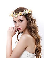 Femme Polyester / Tissu Casque-Mariage / Occasion spéciale / Extérieur Couronnes 1 Pièce Multicolore Fleur 55-60cm