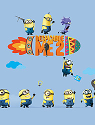 Despicable Me Cartoon Minions Children's Bedroom Wall Stickers DIY Removable Living Room Wall Decals