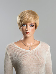 Stylish Short Blonde Straight  Human Hair Wig