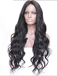 Brazilian Deep Wave Human Hair Wigs 8A Grade Glueless Hair Wigs With Baby Hair Medium Density Lace Front Wigs For Women