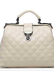 Women PU Formal Tote White / Pink / Blue / Red