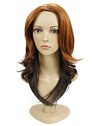 Natural Long Multi-color Good Quality Cap Synthetic Wig For Woman